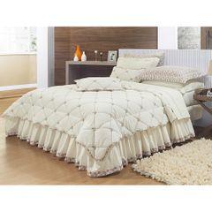 jogo-de-cama-11-pecas-florado-palha-quarto-casal-queen-king