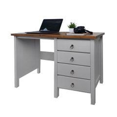 escrivaninha-com-4-gavetas-cinza-com-tampo-em-madeira