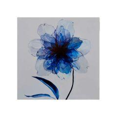 quadro-decorativo-flor-azul-e-branca